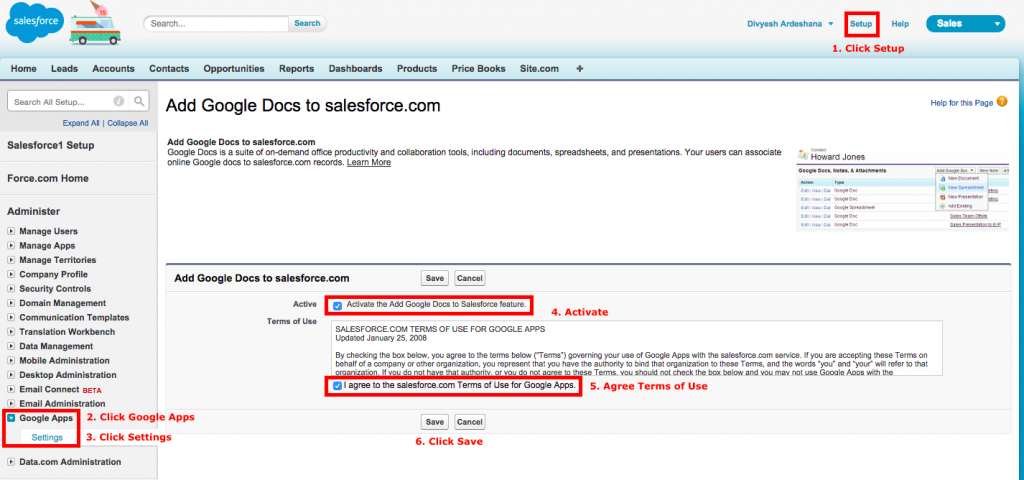 Add Google Docs Salesforce