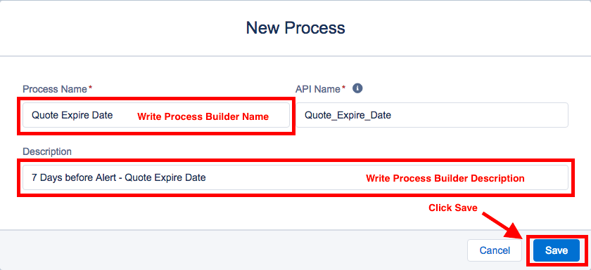 New Process Builder