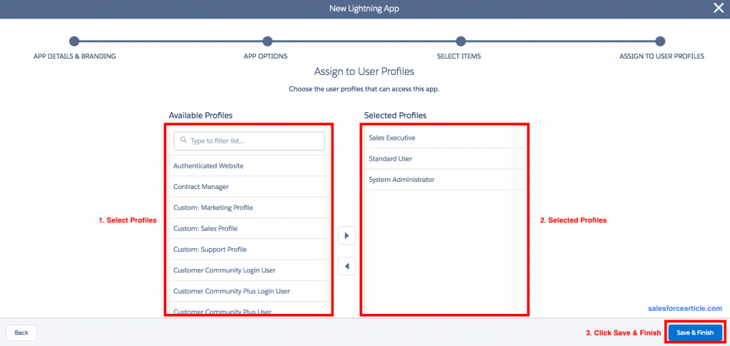 Assign to User Profile