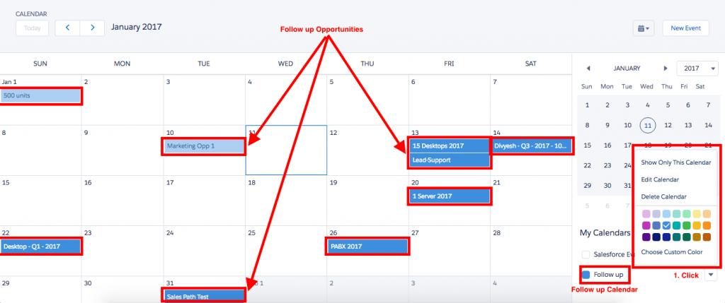Customize Calendar